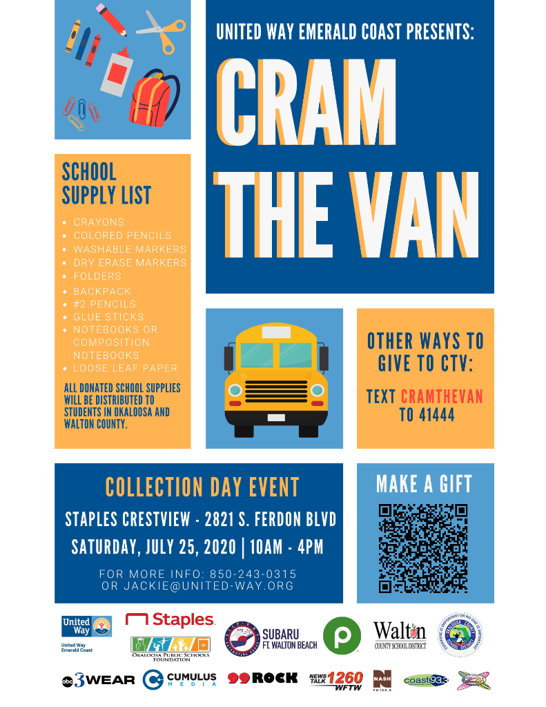 Cram the Van flyer